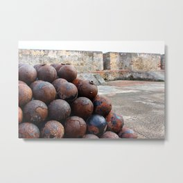 Cannonballs at San Felipe del Morro Metal Print