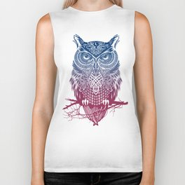 Evening Warrior Owl Biker Tank