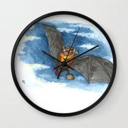 Little Worlds: Travel Bat Wall Clock