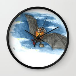 Little Worlds: Travel Bat Wall Clock