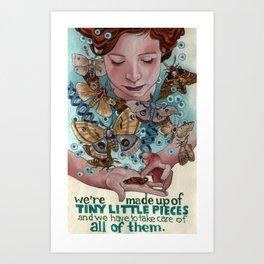Tiny Little Pieces Art Print