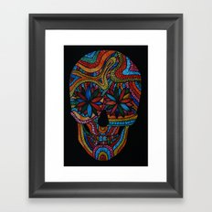 Skull happy Framed Art Print