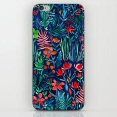 Tropical Ink - a watercolor garden iPhone Skin