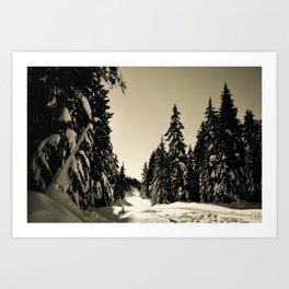 Snow Day Cypress Mountain BC Canada Art Print