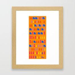 Deep Blue Chess Game #5 : Kasparov v. Deep Blue  Framed Art Print