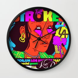 the strokes los angeles tour 2020 baukentut Wall Clock