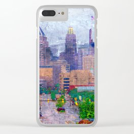 Baltimore skyline from Johns Hopkins Hospital Clear iPhone Case