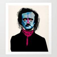 poe Art Prints featuring Poe by Alvaro Tapia Hidalgo