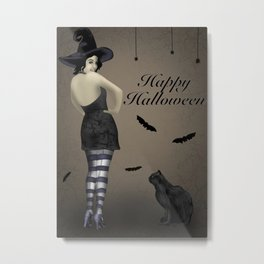 Sassy Witch Metal Print