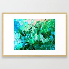 Moon Feathers Framed Art Print