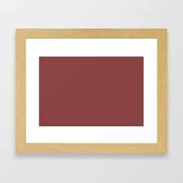 Pratt and Lambert 2019 River Rouge Brownish Red 4-18 Solid Color Framed Art Print