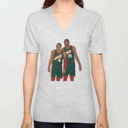 Westbrook and Durant - Retro Jersey Unisex V-Neck