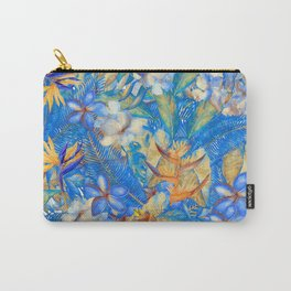 My Blue Aloha Tropical Flower Hibiscus Garden Carry-All Pouch