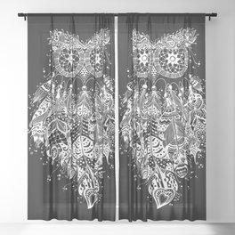 Dream Catcher on Black Sheer Curtain