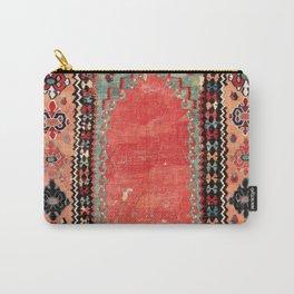 Sivas  Antique Cappadocian Turkish Niche Kilim Print Carry-All Pouch
