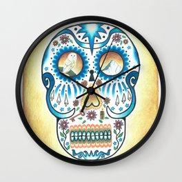Pacific NW Skull Wall Clock
