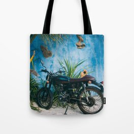 Picture Perfect Motorcycle in Mexico Tote Bag