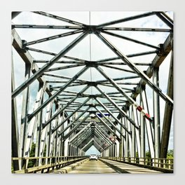 Geometric bridge structure Canvas Print