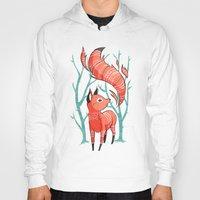 fox Hoodies featuring Winter Fox by Freeminds