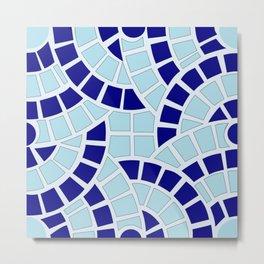 Mosaico azul Metal Print
