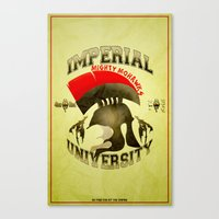 skyrim Canvas Prints featuring Imperial University(Skyrim) by Chubbybuddhist