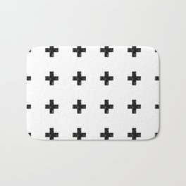 Watercolor Swiss Cross (White) Bath Mat