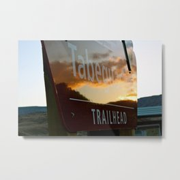 Trailhead Sunset Metal Print