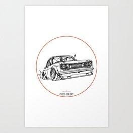 Crazy Car Art 0120 Art Print