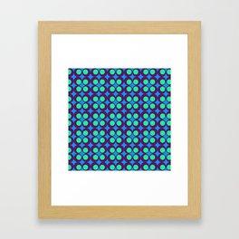 VINTAGE GEOMETRIC CIRCLES  Framed Art Print