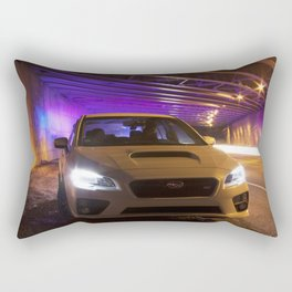 Subaru STi With Police In Background Light Exposure Rectangular Pillow
