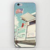 cabin iPhone & iPod Skins featuring The cabin by Retro Love Photography