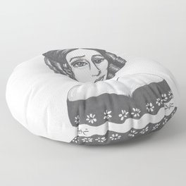 Mary Shelley Floor Pillow