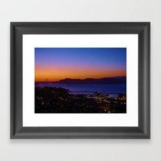 San Francisco Sunset - Golden Gate Bridge in the Background Framed Art Print