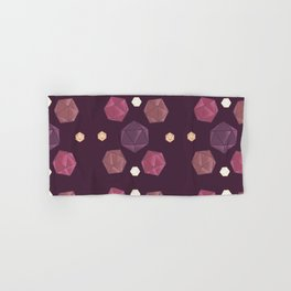 Red and Purple DnD Dice Hand & Bath Towel