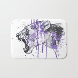 Purple Panther Bath Mat