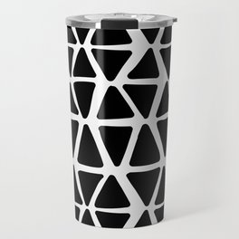 Triangles in black and white Travel Mug