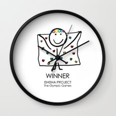WINNER by ISHISHA PROJECT Wall Clock