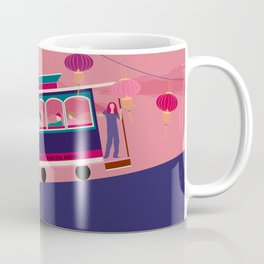 San Francisco Tram on the Hill Coffee Mug