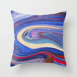 liquify 8 Throw Pillow