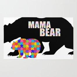 Mama Bear Autism Awareness Support Rug