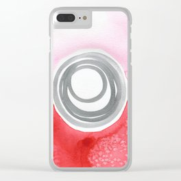 Pink Red Spiral Clear iPhone Case