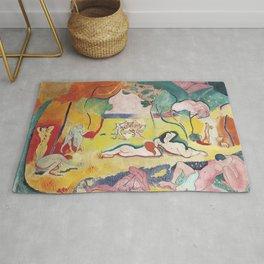 Matisse le Bonheur de Vivre (The Joy of Life) by Henri Matisse Rug