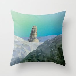 This is Not Easter Island Throw Pillow