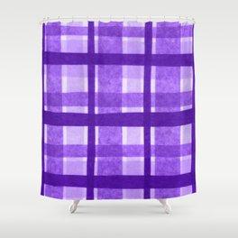 Tissue Paper Plaid - Purple Shower Curtain