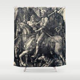 Albrecht Durer Knight Death And Devil Shower Curtain