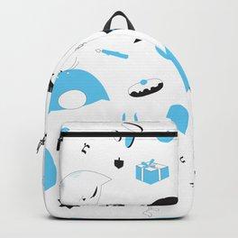Hannukats White Backpack