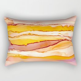 Happy Sunset Abstract Art Rectangular Pillow
