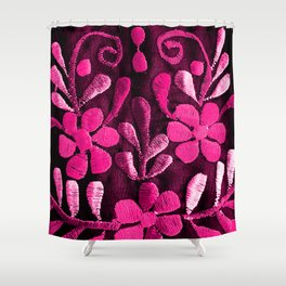 Hot Pink Mexican Flowers Shower Curtain