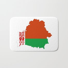 Belarus flag map Bath Mat