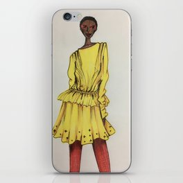 Bold in Yellow (Zoomed) iPhone Skin